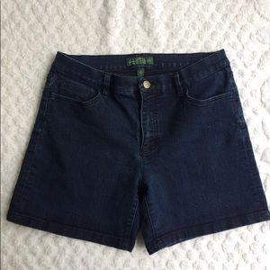 Ralph Lauren High Rise Jean Shorts Size 10